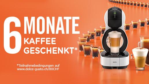 6 Monate Kaffee geschenkt