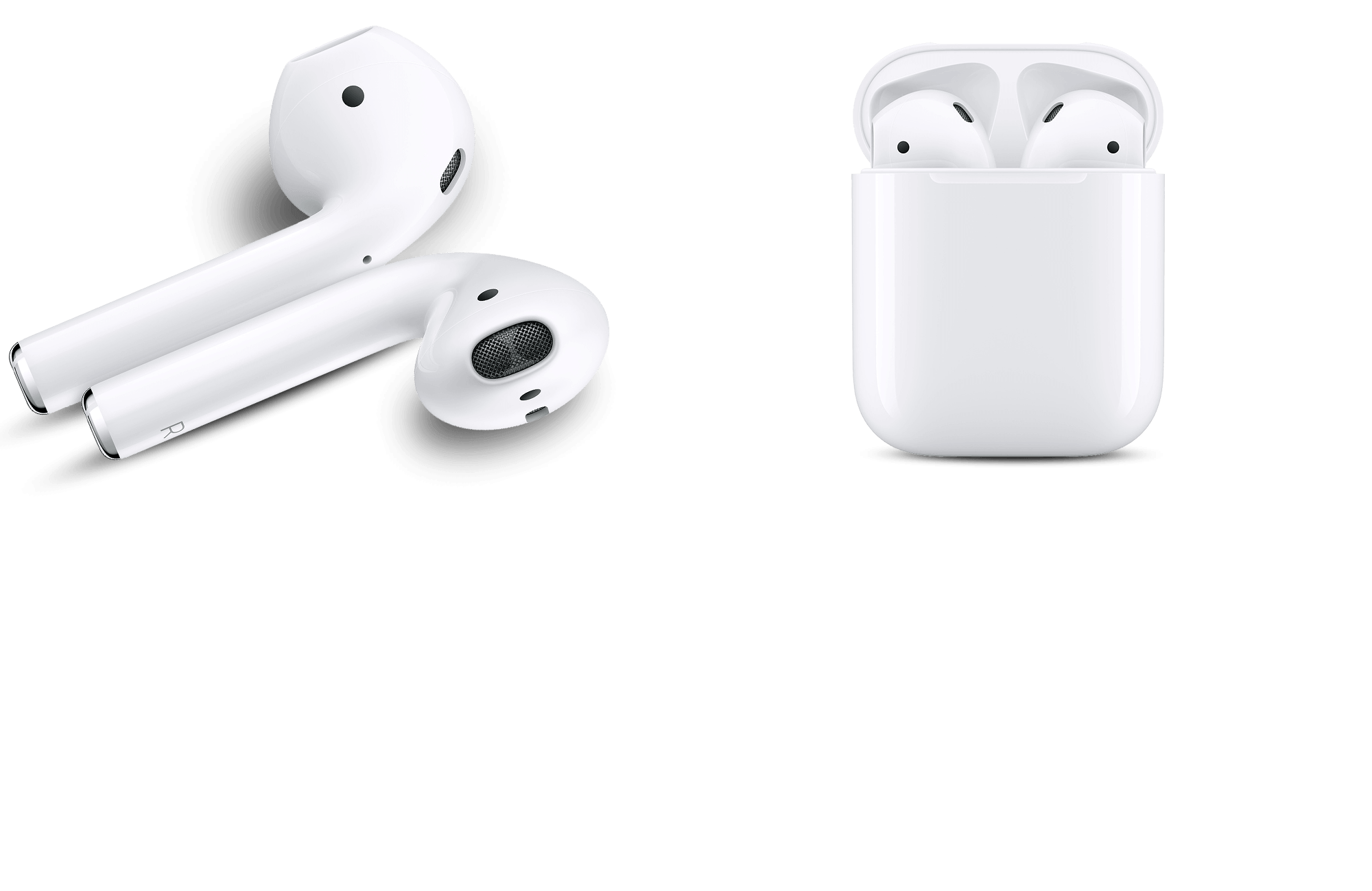APPLE AirPods (2019) 2nd Gen. - Cuffie Bluetooth con custodia di ricarica wireless (In-ear, Bianco)