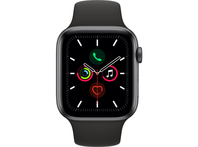 APPLE Watch Series 5 (GPS) 44 mm - Smartwatch (140 mm - 220 mm, Plastica, Grigio siderale/Nero)
