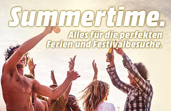 Summertime - Alles für die perfekten Ferien und Festivalbesuche.