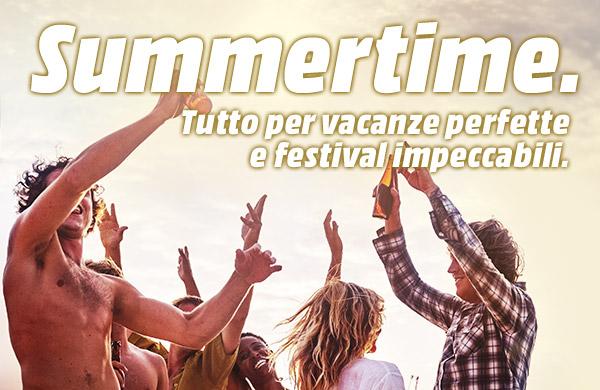 Summertime - Tutto per vacanze perfette e festival impeccabili.
